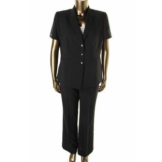 Tahari ASL Womens Diana Pinstripe Flat Front Pant Suit - 4