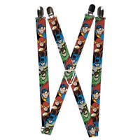 Buckle Down Men's Elastic DC Justice League Superhero Clip End Suspenders - One size