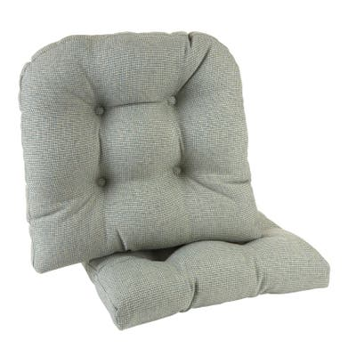 "Gripper Non-Slip 15"" x 15"" Omega Tufted Chair Cushions, Set of 2"