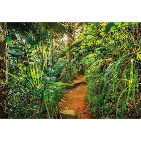 """Brewster 8-989 Komar 100"""" x 145"""" - Jungle Trail - Vinyl Wall Mural - 8 - Green"""