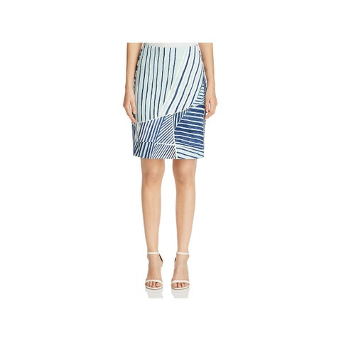 Nic + Zoe Womens A-Line Skirt Printed Above Knee