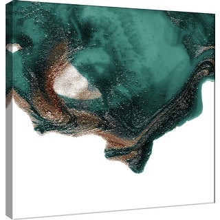 """PTM Images 9-101063  PTM Canvas Collection 12"""" x 12"""" - """"Polished in Pine and Coffee"""" Giclee Abstract Art Print on Canvas"""