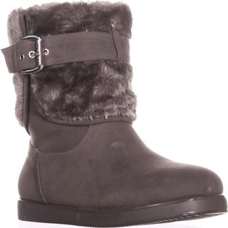 Guess Amburr Mid Calf Lined Boots, Gray Multi