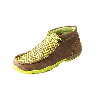 Twisted X Casual Shoes Mens Driving Moc Rubber Lace Up Bomber MDM0029