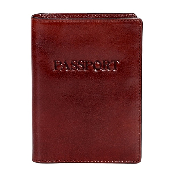Scully Western Passport Wallet Italian Leather RFID Mahogany - One size