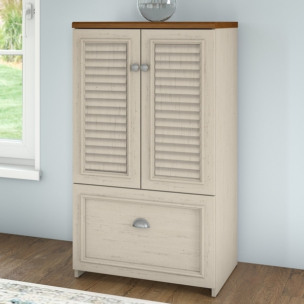 """Copper Grove Samtredia 41.7-inch Cabinet with Drawer - 23.74""""L x 16.06""""W x 41.69""""H. Opens flyout."""