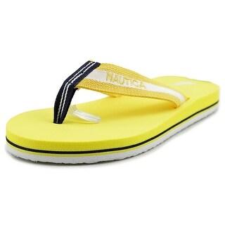 Nautica Garland Women Open Toe Synthetic Yellow Flip Flop Sandal