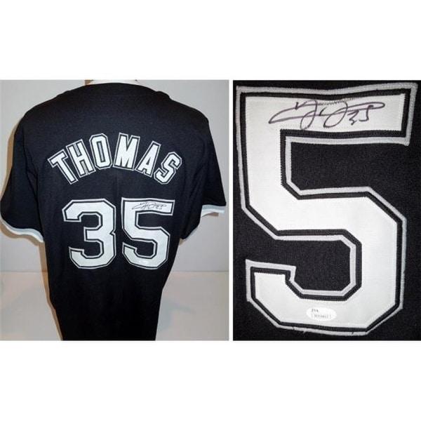 new concept 1646e c8135 Frank Thomas Signed - Autographed Chicago White Sox Custom Black