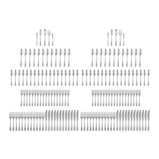 Link to Cambridge Silversmiths Swirl Sand 154Pc Stainless Steel Flatware Set - Stainless Steel Similar Items in Flatware