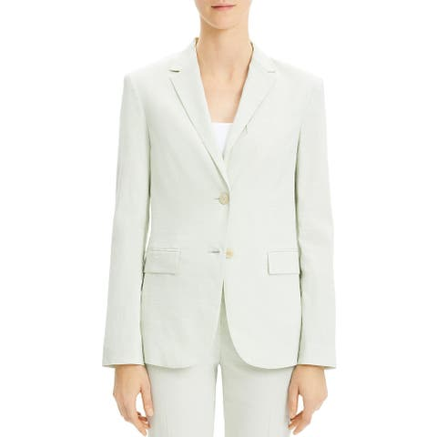 Theory Womens Classic Two-Button Blazer Linen Business