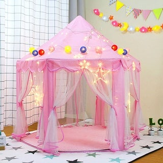 Link to Princess Castle Play Tent Large Fairy Playhouse Gift for Kids - 1pc Similar Items in Outdoor Play