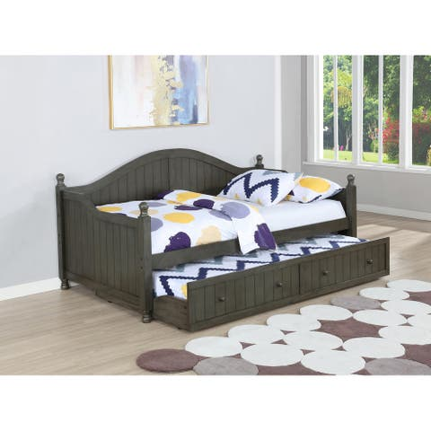 Boston Warm Grey Daybed With Trundle