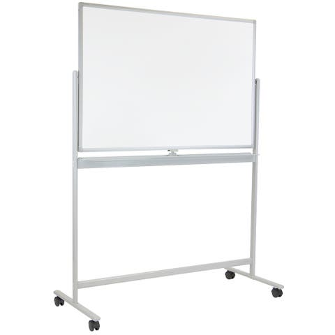 Mount-It! Mobile Dry Erase Whiteboard - Rolling White Board with Casters and Stand 48x32 Inches