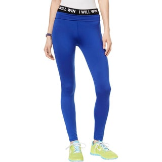 Energie Womens Juniors Hallie Athletic Leggings Fold-Over Fitness - M