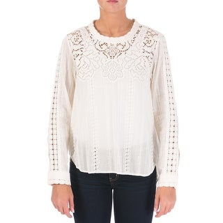 Sea New York Womens Lace Eyelet Casual Top - 4