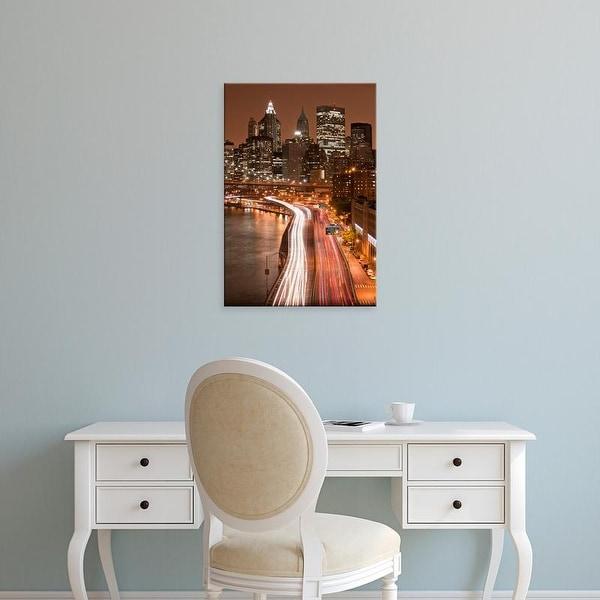 Easy Art Prints Paul Souders's 'Brooklyn Bridge and Manhattan Skyline, New York City' Premium Canvas Art