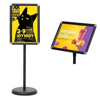 Goplus Adjustable Pedestal Poster Stand Aluminum Snap Open Frame For 9.5'' x 13'' Graphic