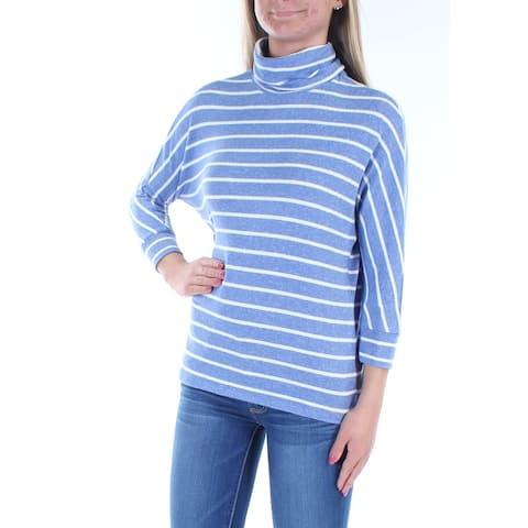 MAISON JULES Womens Light Blue Striped Dolman Sleeve Top Size 2XS