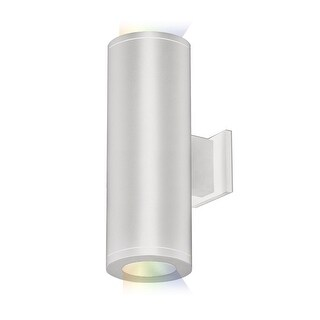 """WAC Lighting DS-WD05-FC-CC Tube Architectural ilumenight 2 Light 12-1/2"""" Tall Integrated LED Outdoor Wall Sconce with Two Light"""