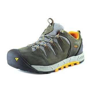 Keen Bryce Water Proof Women Round Toe Leather Gray Hiking Shoe