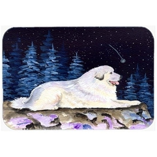 Carolines Treasures SS8438CMT 20 x 30 in. Starry Night Great Pyrenees Kitchen Or Bath Mat