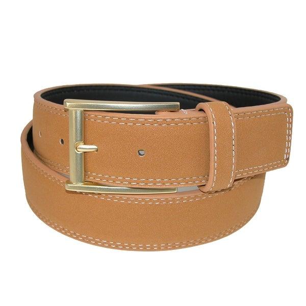 CTM® Men's Faux Suede Belt with Mock Roller Buckle