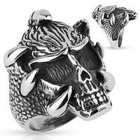 Skull with Claws Stainless Steel Ring (Sold Ind.)