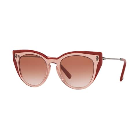 Valentino VA4051 512613 50 Transparent Pink Woman Round Sunglasses