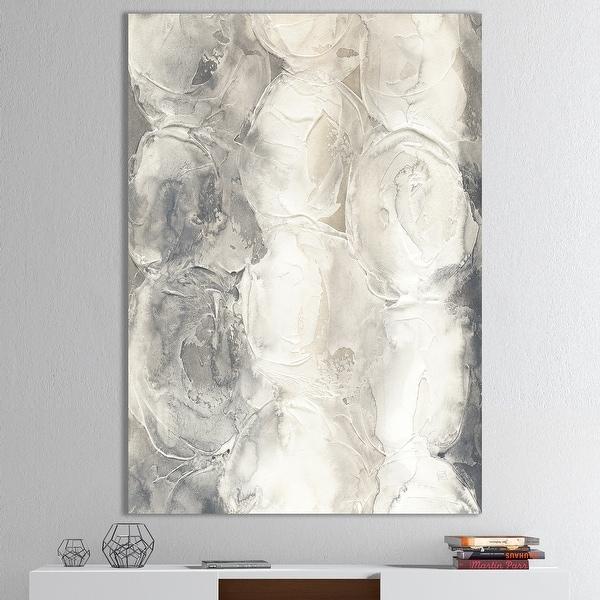 Designart 'Gray Circles I' Modern & Contemporary Premium Canvas Wall Art. Opens flyout.