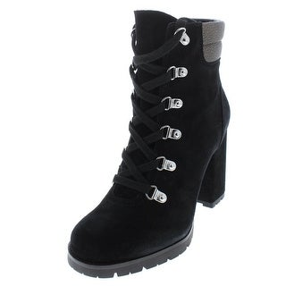 Sam Edelman Womens Carolena Combat Boots Suede Heels