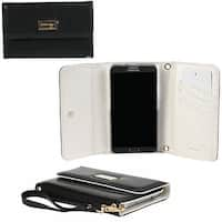 JAVOedge Classic Black Wallet Case with Wristlet for the Samsung Galaxy Note 3 (Black) - Metallic Black