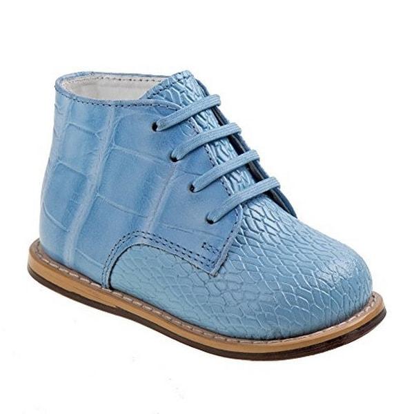 Josmo Unisex Woven Croc Print Walking Shoe, Blue, 5 M Us Infant