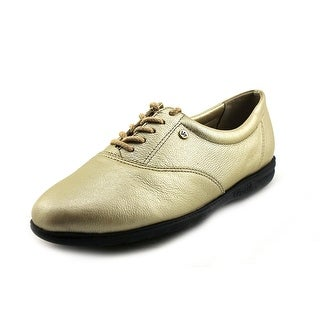 Easy Spirit Motion Women 2A Round Toe Leather Gold Oxford