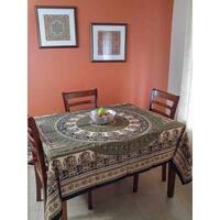 Handmade Cotton Paisley Mandala Tapestry Tablecloth Coverlet Spread 64x90 Twin Full