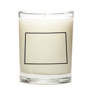 Custom Candles with the Map Outline Colorado, Peach Belini
