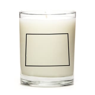 State Outline Candle, Premium Soy Wax, Colorado, Pine Balsam
