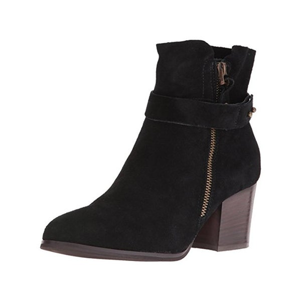 Kensie Womens Seamore Ankle Boots Suede Stacked