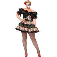 Leg Avenue Day of the Dead Doll Plus Size Costume - Black