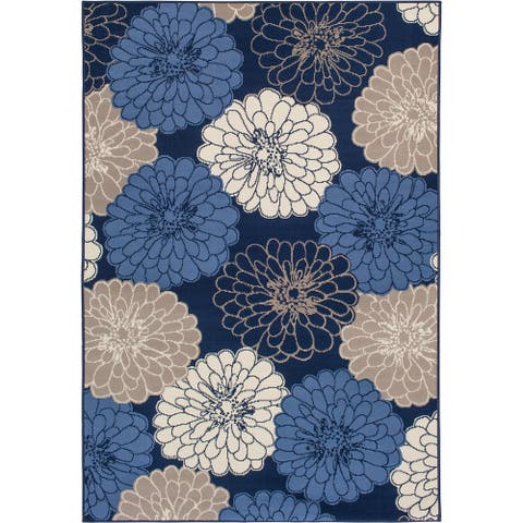 Gainsville Marigold Blue and Multil Woven Area Rug