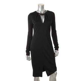 Halston Heritage Womens V-Neck Long Sleeves Cocktail Dress - 6