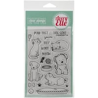 Avery Elle AE1513 4 x 6 in. Furry Friends Clear Stamp Set