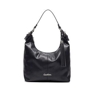 Carlos Falchi Womens Luana Hobo Handbag Faux Leather Adjustable - MEDIUM
