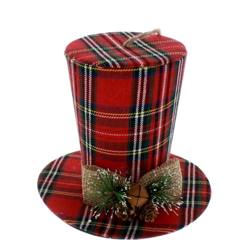 Traditional Plaid Top Hat