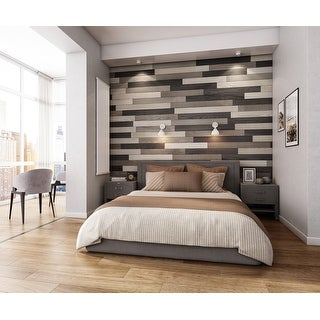 Link to NaturaPlank Peel and Stick Real Wood Wall Panels with 3M Adheisive Tape, Medium Greys Transitions Similar Items in Wall Coverings