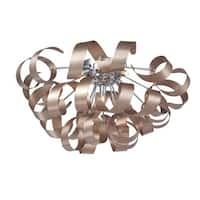 """Artcraft Lighting AC605 Bel Air 5 Light 23-1/2"""" Wide Flush Mount Ceiling Fixture"""