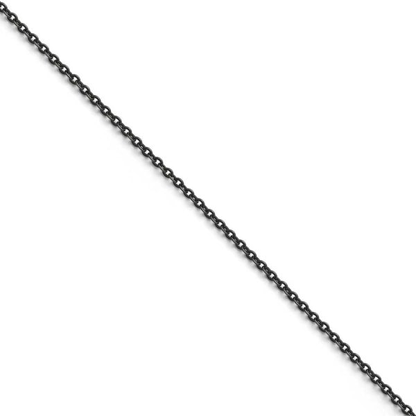 Chisel Stainless Steel 0.6mm Oxidized Chain - 18 in