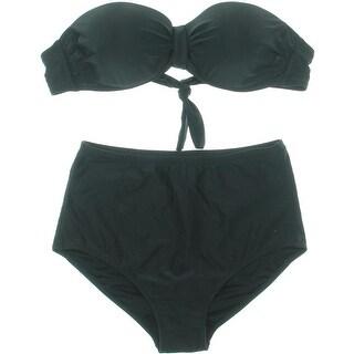 Zeraca Womens Underwire Bandeau Bikini Swimsuit - 8