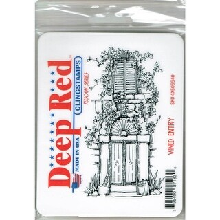 Deep Red Stamps Vined Entry Rubber Cling Stamp - 2.2 x 4