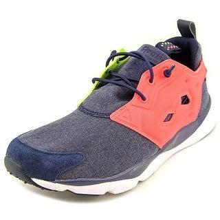 Reebok Furylite Asymmetrical Women Round Toe Canvas Blue Running Shoe
