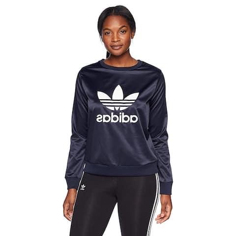Adidas Originals Trefoil Crew Women's Sweat Shirt, Legend Ink, Medium